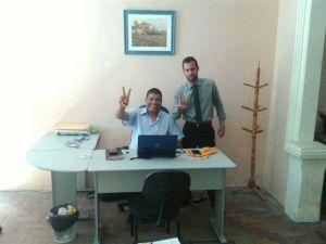 Bruno Daneu (esq) e Jorge Almeida (dir)