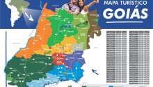 Mapa Turístico do Estado de Goiás