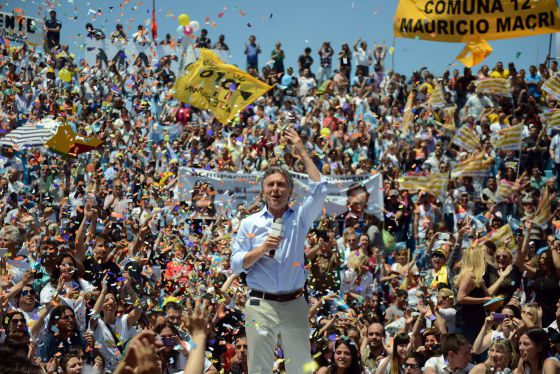 O candidato opositor Mauricio Macri - EITAN ABRAMOVICH (AFP)