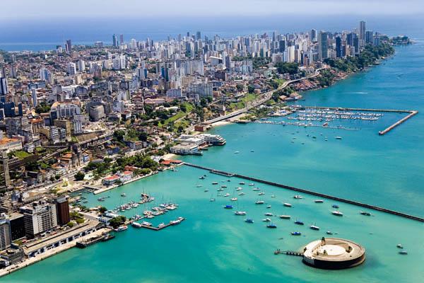 Vista aérea de Salvador (BA)