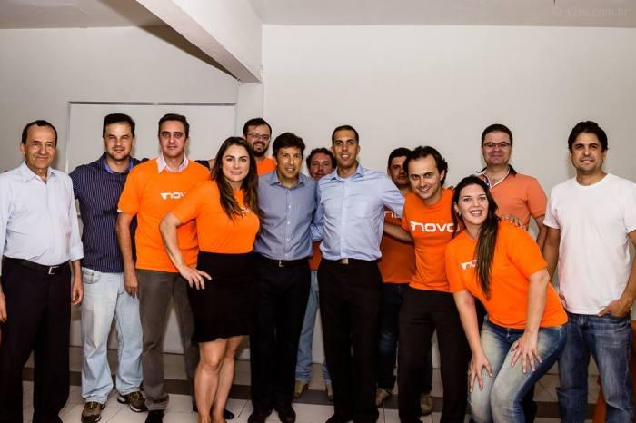 Equipe do Diretório Mineiro com João Amoedo, Presidente do Partido NOVO