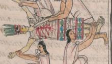 dice Florentino - sacrifício humano na cultura asteca. O indivíduo sacrificado no interesse da coletividade.