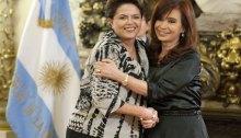 Presidentes Dilma Rousseff (Brasil) e Cristina Kirchner