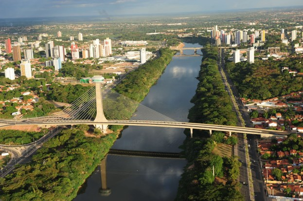 Vista aérea de Teresina, capital do Estado do Piauí