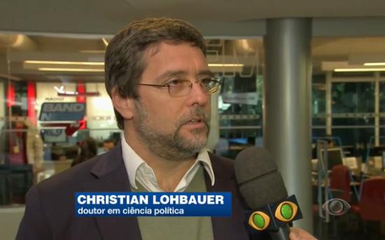 Christian Lohbauer, fala ao Jornal da Band