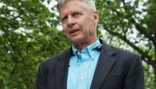 O candidato do Partido Libertário à presidência dos EUA, Gary Johnson, em imagen de arquivo (Foto: Nicholas Kamm/AFP)