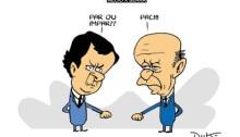 Prévias partidárias no Brasil (Charge: Duk)