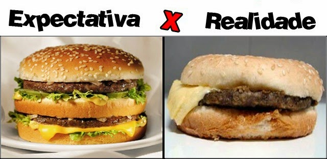 Expectativa versus Realidade
