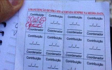 Moradores pagavem entre 400 e 150 reais. Ultimo Segundo IG. Reprodução Rede Globo